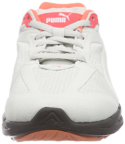 Puma Ignite Suede, Baskets Basses mixte adulte Gris - Grau (glacier gray 01)