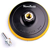 NOVOTOOLS Hook And Loop Backing Pad 125mm (5 inch) M14x2 with power drill adaptor