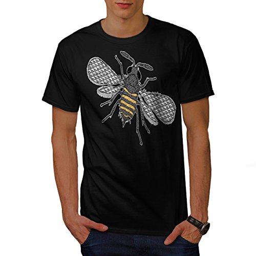 insecte-monde-art-plusieurs-abeille-homme-nouveau-noir-l-t-shirt-wellcoda