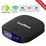 Leelbox - [2018 Dernière Version ] Q2 PRO Android 7.1 TV Box Smart TV Box de 2GB RAM+16GB ROM Supporte Dual-WiFi 2.4/5.8GHz Smart TV Box avec BT 4.0 / HD / H.265 / 4K/3D
