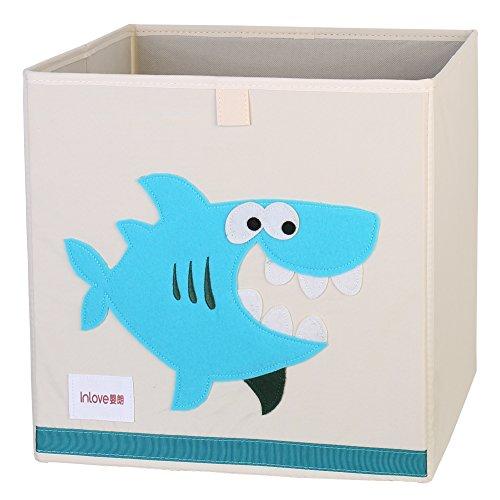 Cartoon Aufbewahrungswürfel Leinwand faltbare Spielzeug Aufbewahrungsbox für Kinder von ELLEMOI (Hai)