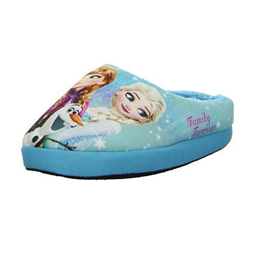 Frozen 139052 Mädchen Pantolette Warmfutter Blau (Blau)