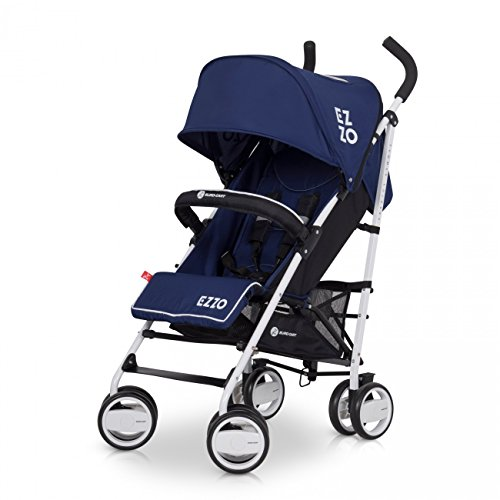 Buggy EZZO Sport Kinderwagen | Baby ab 6. Monate | Kompakt Faltbar | Farbe: Denim 2 (Korb Französisch-markt)