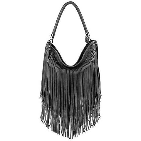 diseño italiano Bolso Mujer Flecos Comprador Hobo-Bags Bolso Bandolera Bolso De Mano Con Asas