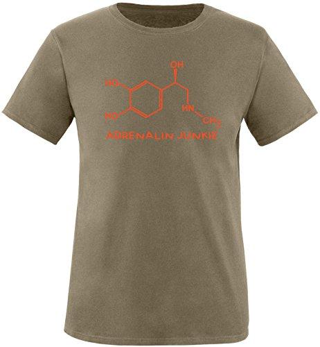 EZYshirt® Adrenalin Junkie Herren Rundhals T-Shirt Oliv/Orange