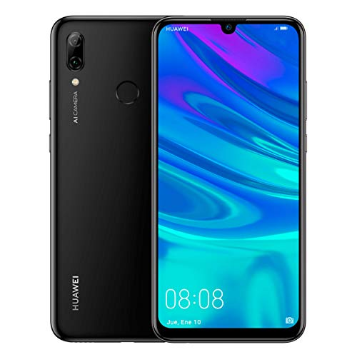 "Huawei P Smart 2019 - Smartphone de 6.2"", 3 GB RAM, 64 GB, 13 MP + 2 MP, Dual SIM, Funda incluida, Color Midnight Black"