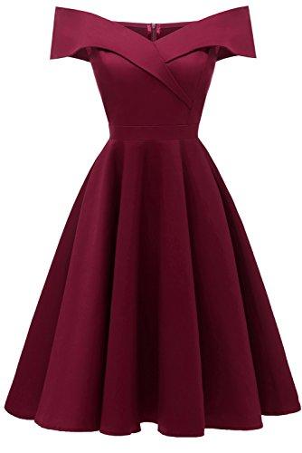 TOSKANA BRAUT Damen Vintage V-Ausschnitt Abendkleid Party Sommer Strand Abschlussball Kleider...