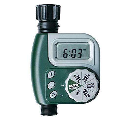 Forart Wasserhahn Timer Single Outlet Schlauch Wasserhahn Outdoor wasserdicht Digital programmierbare automatische Timer mit Regen Verzögerung und manuelle Steuerung für Gartenbewässerung