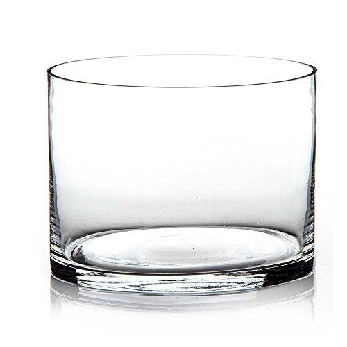 Jarrón vaso cristal transparente