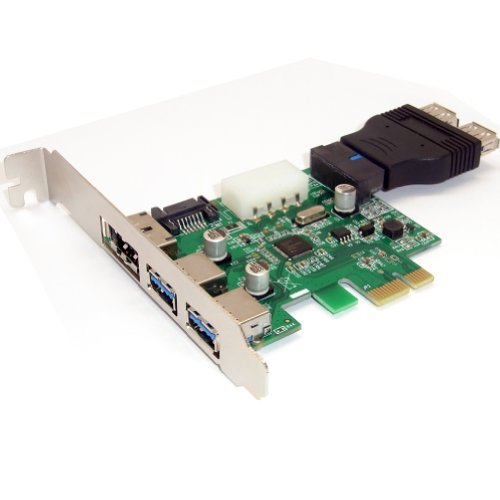 2 Ports USB 3.0 eSATA SATA 20 Pin Extender USB Ports auf PCI-E PCI Express Card+USB 3.0-Port Anschluss Adapter Männlich 20 Pin Header auf 2 Buchsen (Esata-usb-pci)