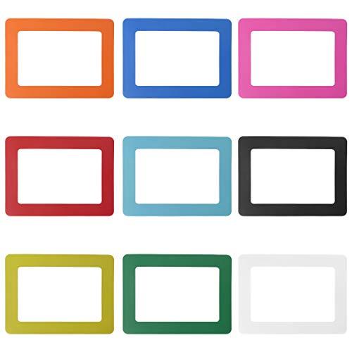 Exing Picture Frames Photo Frames Cadre Photo pour frigo avec Cadre Photo et Cadre magnétique Multicolore 12 x 16 cm, 9 Pcs, Large