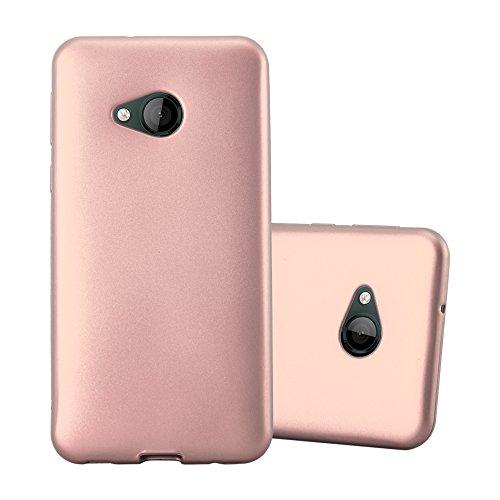 Cadorabo Hülle für HTC U Play - Hülle in METALLIC ROSÉ Gold – Handyhülle aus TPU Silikon im Matt Metallic Design - Silikonhülle Schutzhülle Ultra Slim Soft Back Cover Case Bumper