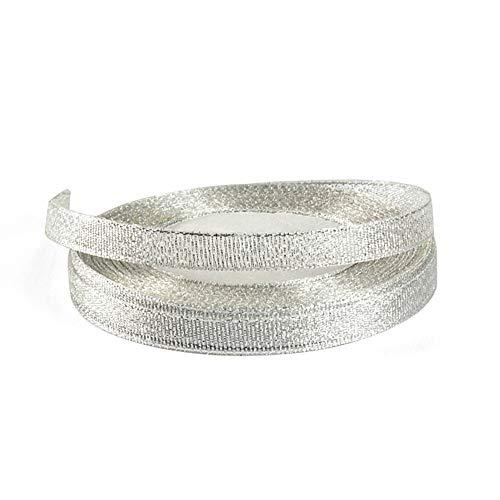 Cinta de satén de color liso, rollo de cinta decorativa para manualidades de boda, manualidades, tela, plateado, 220cm*1cm