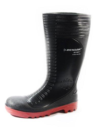 Dunlop Unisex Acifort Ribbed Safety Wellington Boot Black