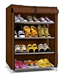 #10: Parasnath Prime Shoes 4-5 layer Cloth Cabinet , Shoe Rack Organiser, Colour - Random Colour ( 20 Year Warranty *MADE IN INDIA)