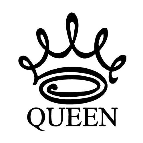 Car Styling Queen Crown Vinyl Car Stickers @Negro