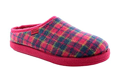 Chaussons Alpino à carreaux Fuschia.33