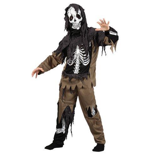 Jungen Rotten Skeleton Zombie Karneval / Halloweenkostüm (schwarz, braun), Gr.- Small/3 - 4 - Zombie Kostüm Für Jungen