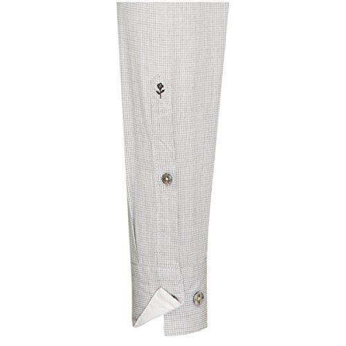 Seidensticker Herren Langarm Hemd Schwarze Rose Slim Fit Washed Hai-Kragen grau / weiß kariert 442097.32 Grau