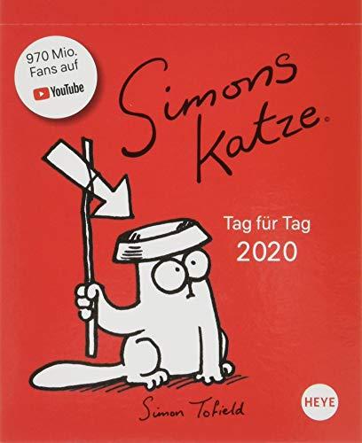 Simons Katze Tagesabreißkalender. Tischkalender 2020. Tageskalendarium. Blockkalender. Format 11 x 14 cm