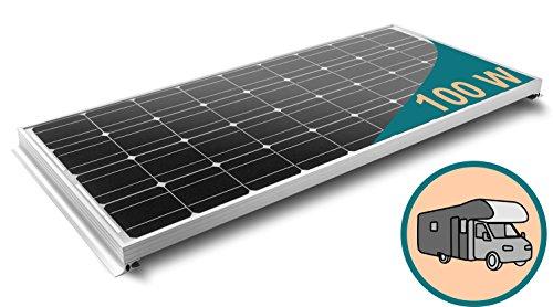 100W Monokristallines Komplett Solarmodul für Wohnmobile mit 10A Laderegler