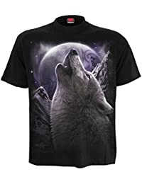 The Mountain T-Shirt Wolf schwarz weiß Wölfe  S 3XL