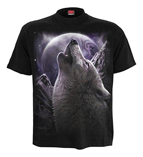 Wolf Seele, Gothic-Metal-Fantasie Damen T-Shirt schwarz - S - Spiral (T-shirt Fantasy Schwarz Damen)