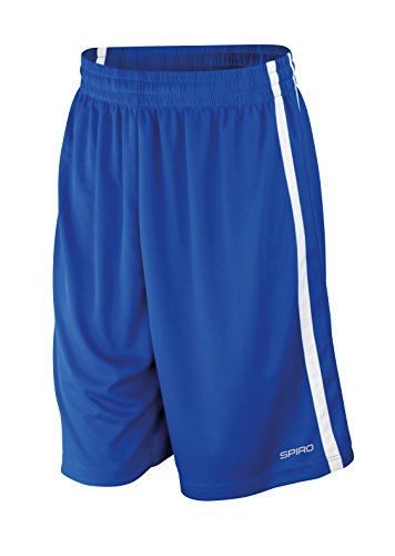 Preisvergleich Produktbild Spiro Men's Basketball quick dry shorts, L, Royal/ White