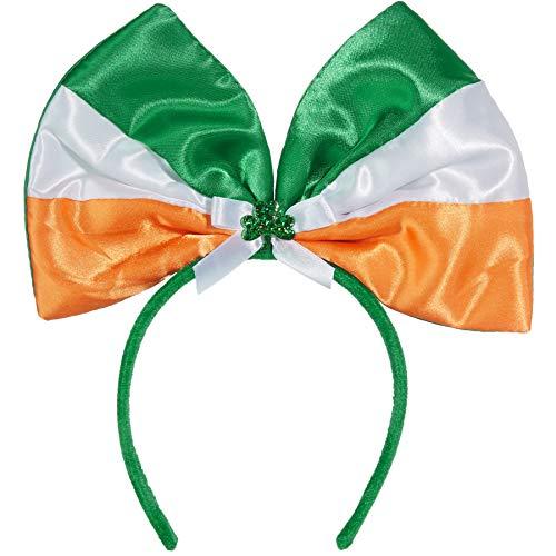 Irland Kostüm Männer - dressforfun 302548 - St. Patrick's Day Schleife in irischern Farben, Dreiblättriges Kleeblatt mit kleinen Schleifchen