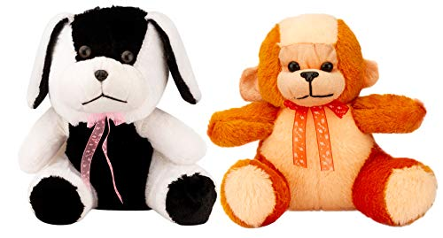 Aavashyak Premium Quality Combo of Soft Stuffed Plush Dog & Monkey - Best Price - Free Delivery Soft Toys for Kids