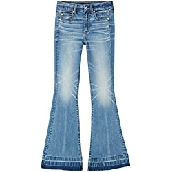 FIND Stone Wash, Jeans para Mujer, Azul (Mid Blue), X-Large