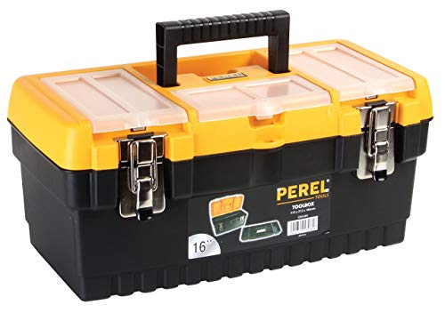 """Perel OM16M Werkzeugkoffer mit Metallschlössern, 16"""" Länge"""
