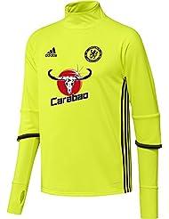 adidas Chelsea Trg Top - Sudadera para hombre, color amarillo / negro / rojo, talla XL