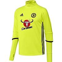 Adidas Chelsea TRG Top - Sudadera para Hombre, Color Amarillo/Negro / Rojo, Talla XS