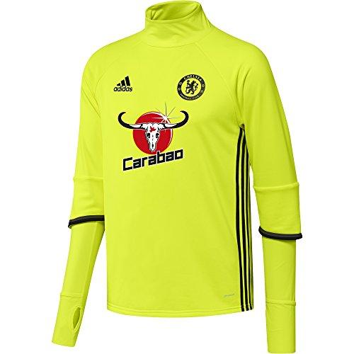 adidas Herren FC Chelsea Trainingtop, Solar Yellow/Black/Granite, M