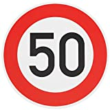 ORIGINAL VERKEHRSSCHILD 50 KM/H Schild DN 60 cm Nr. 274-55 zum Geburtstag als Geburtstagsgeschenk...