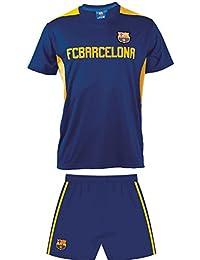 Maillot + short Barça - Collection officielle FC BARCELONE - ensemble taille enfant garçon