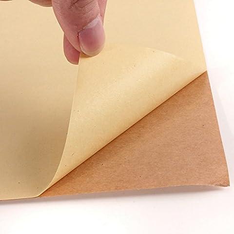 50 Sheets of A4 KRAFT MATT Self Adhesive / Sticky
