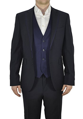 Michaelax-Fashion-Trade - Gilet - Uni - Sans Manche - Homme Bleu - Blau (37)