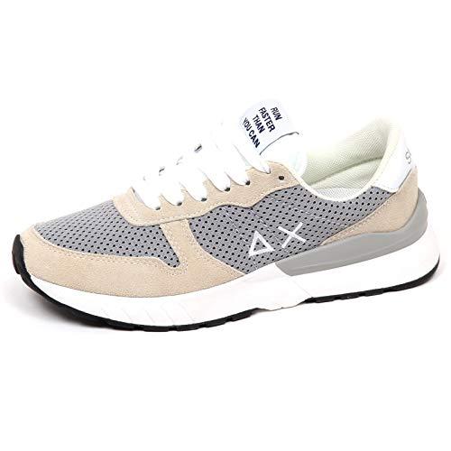 c006821e0b225 E9340 Sneaker uomo Beige Grey SUN 68 Scarpe Suede Tissue Shoe Man  45