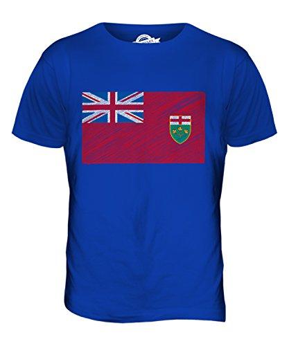 CandyMix Ontario Kritzelte Flagge Herren T Shirt Königsblau