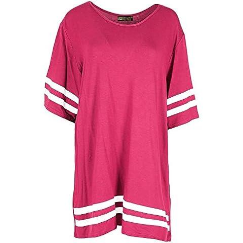 Las nuevas mujeres del equipo universitario de rayas Baggy T tapas de la camisa,36-50