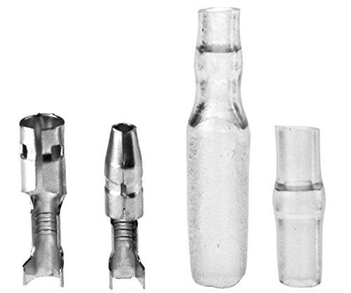 50 Sätze von 3,9mm Rundstecker Männlich&Weiblich Stecker mit Deck für Motorrad (Blinker Stecker)