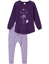Schiesser warmer Mädchen Schlafanzug Pyjama pink  Gr.104-140 NEU
