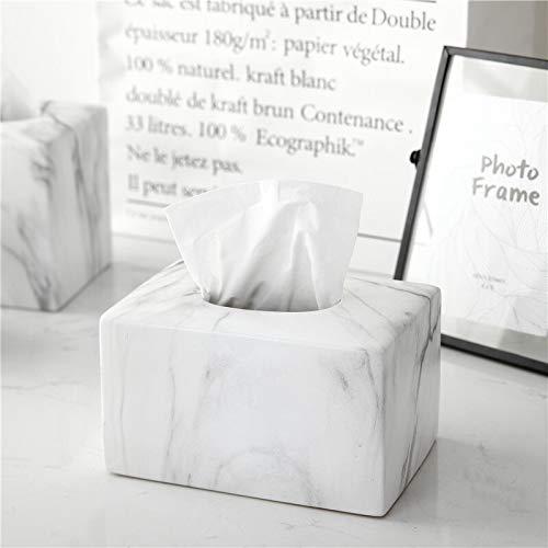 NICOLAS Tissue Box Tissue Cover Holder, Kreative Marmor Textur Rechteckige Holz Tissue Box Cover, Hölzerne Piano Paint Tissue Box Dekoration Kunsthandwerk, Keramik (Color : Rectangle) (Keramik Tissue Box Cover)