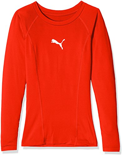 PUMA Kinder Liga Baselayer Tee LS Jr Shirt, rot (Puma Red), 176