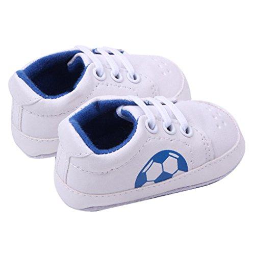 kingko® Bouton chaud Chaussures de marche pour bébé Toddler Girls Semelles souples Crib Bottes Flats coton Bleu