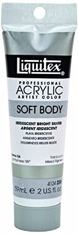 Liquitex Soft Body Iridescent Brillant Argenté 59ml tube Series 2