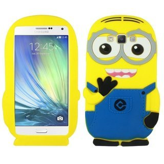 Gulwan Funky Minion Soft Rubber Silicone Back Case Cover For Samsung Galaxy Grand-2 /7106/7102