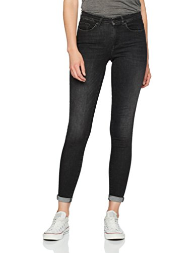 ONLY Damen Skinny Jeans 15138726, Schwarz (Black), W32/L30 (Leg-jeans Low-rise-skinny)